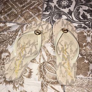 Micheal Kor flip flops
